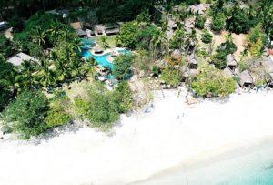 Beach Club from the air